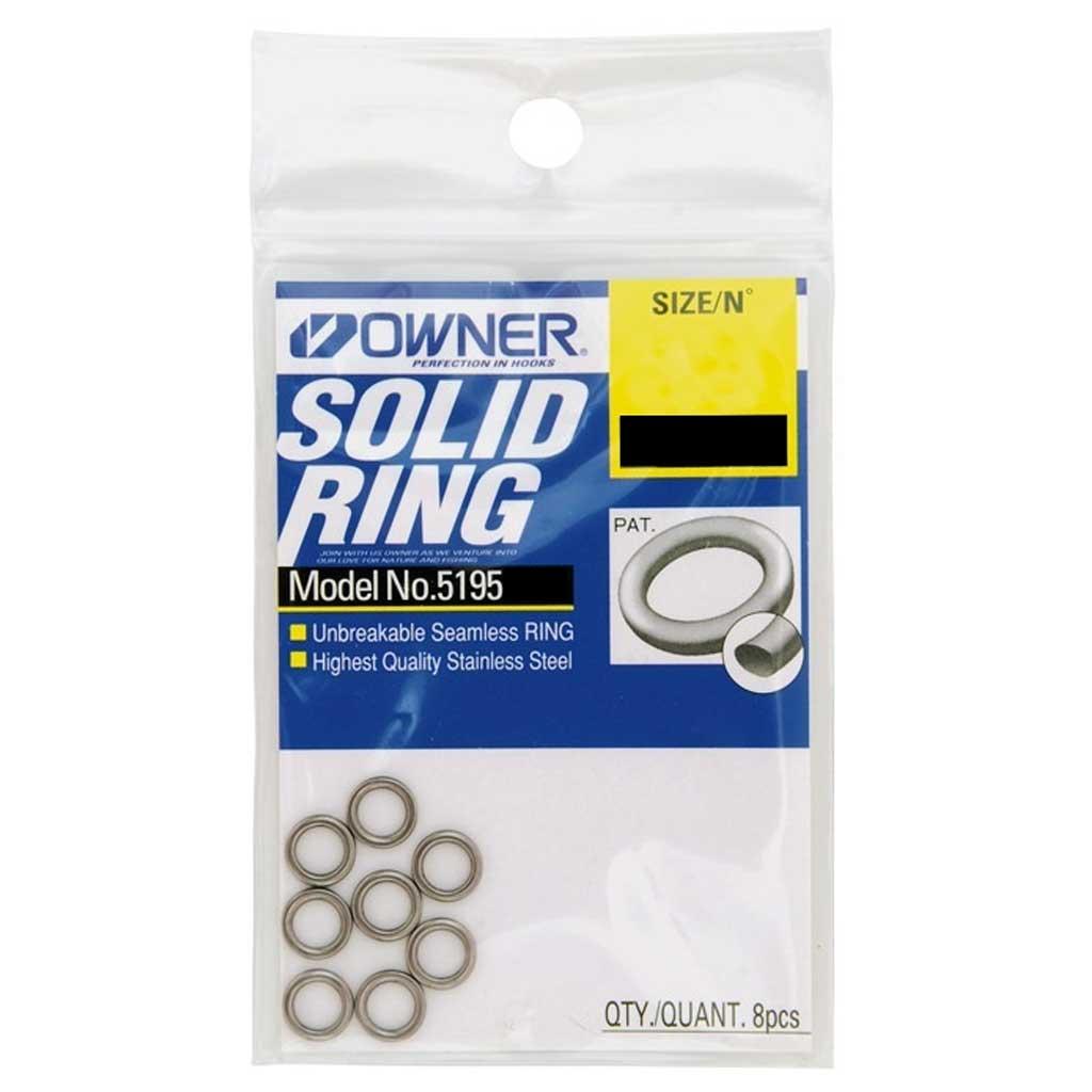 OWNER #6.5 SOLID RING 8PCS 300LB//130KG